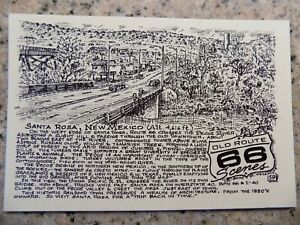 Details about Santa Rosa New MX Route 66 post card by late Bob Waldmire  artist & cartographer