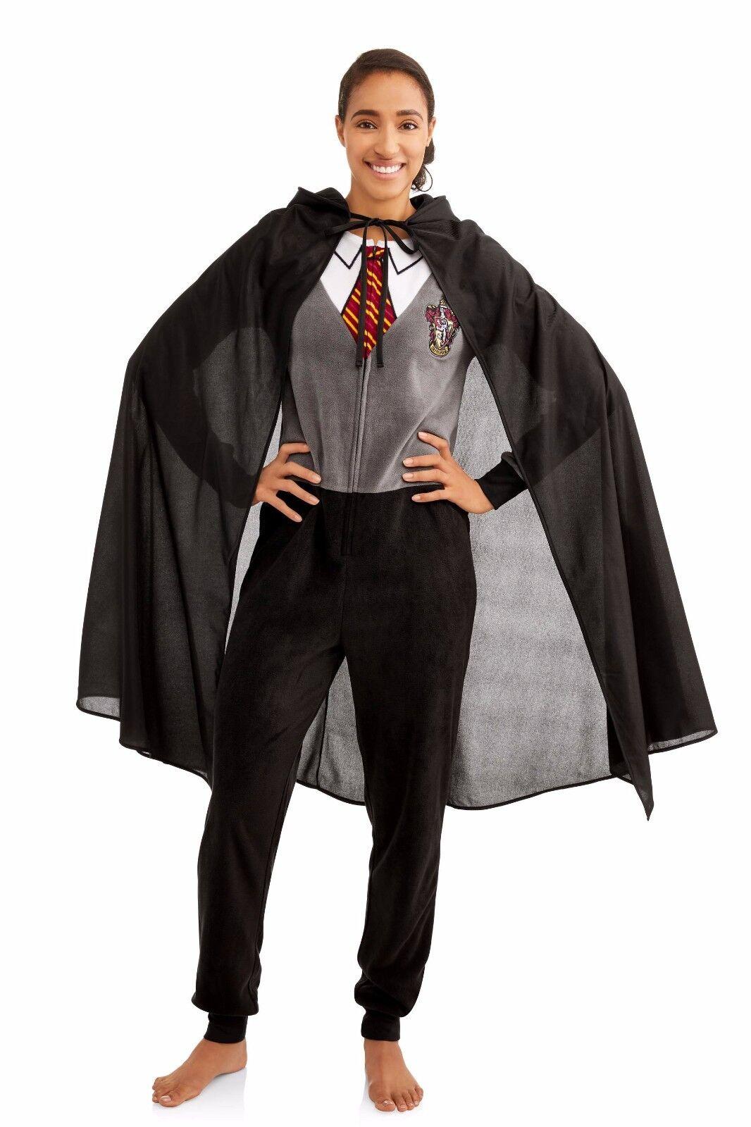 NEW Women Harry Potter Costume One Piece Pajamas Cape Union Suit XS S M L XL 2XL