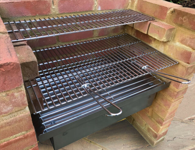 Charcoal DIY Brick Stainless Steel  BBQ Kit with 6mm Grill /& 7mm Grate SS103D
