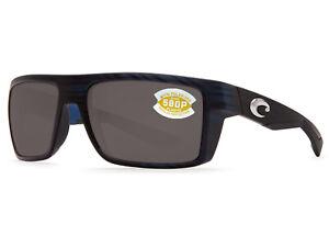 29c9d426ee90b Costa Del Mar Motu Matte Black Teak   Gray 580 Plastic 580P - NEW ...
