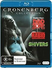 THE DEAD ZONE / SHIVERS / RABID (David Cronenberg)-  BLU RAY - Sealed Region B