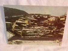 Vecchia cartolina foto di Casalbuono panorama innevato abitazioni paese colline