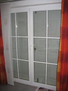terrassent r wei kunststoff 2 fl gelig mit sprossen ebay. Black Bedroom Furniture Sets. Home Design Ideas