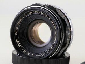 Canon-35mm-f-2-Leica-Screw-Mount-LTM-39-Lens-mit-Koffer-034-MINT-034-aus-Japan-2525