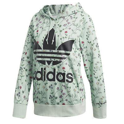 Adidas Originals Trefoil Hoodie Sweatshirt Big Trefoil Flower Flowers Green | eBay