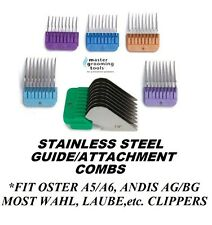 6pc STAINLESS STEEL BLADE Attachment GUIDE COMB SET*Fit MOST ANDIS,OSTER Clipper