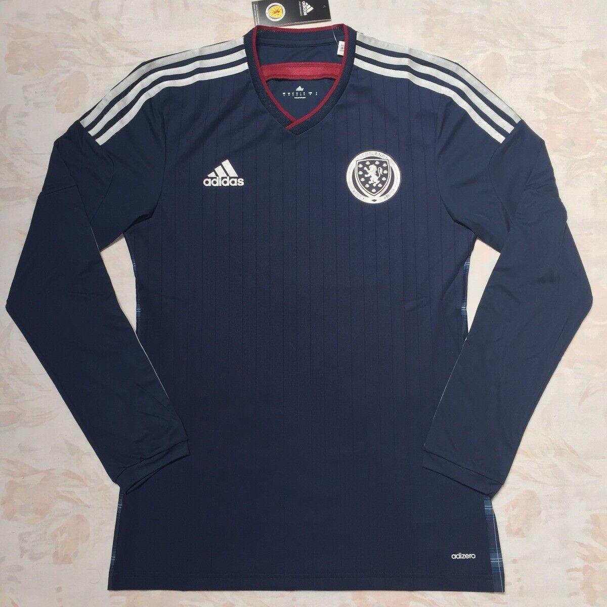 Authentic Adidas Scotland Adizero Player Issue Long Sleeve shirt - Bnwt Small