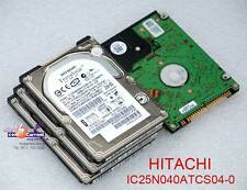 "40 GB 2,5"" 6,35cm IDE HDD FESTPLATTE HITACHI IC25N040ATCS04-0 0A57367 DEFEKT #K"
