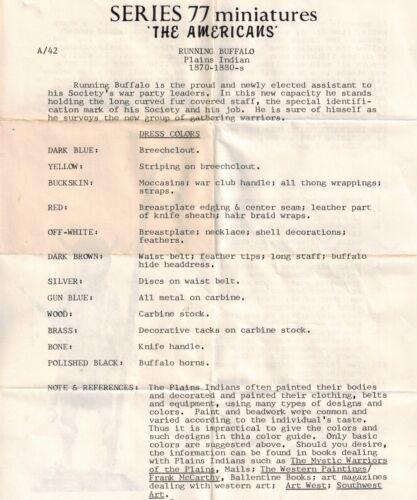 Series 77 A//42 American Plains Indian Running Buffalo 1880s  Loc = J1