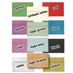 100-x-C6-ENVELOPES-YELLOW-WHITE-PINK-RED-PURPLE-BLACK-BLUE-GREEN-PAPER-ORANGE