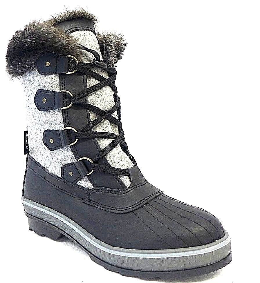 Damen Winterschuhe Winterschuhe Damen schwarz grau Größe 38 39 Wasserdicht Schnee Stiefel warm 61f3b3