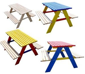 Kindersitzgarnitur Kinder Sitzgruppe Tisch Bank Kindermöbel Garten