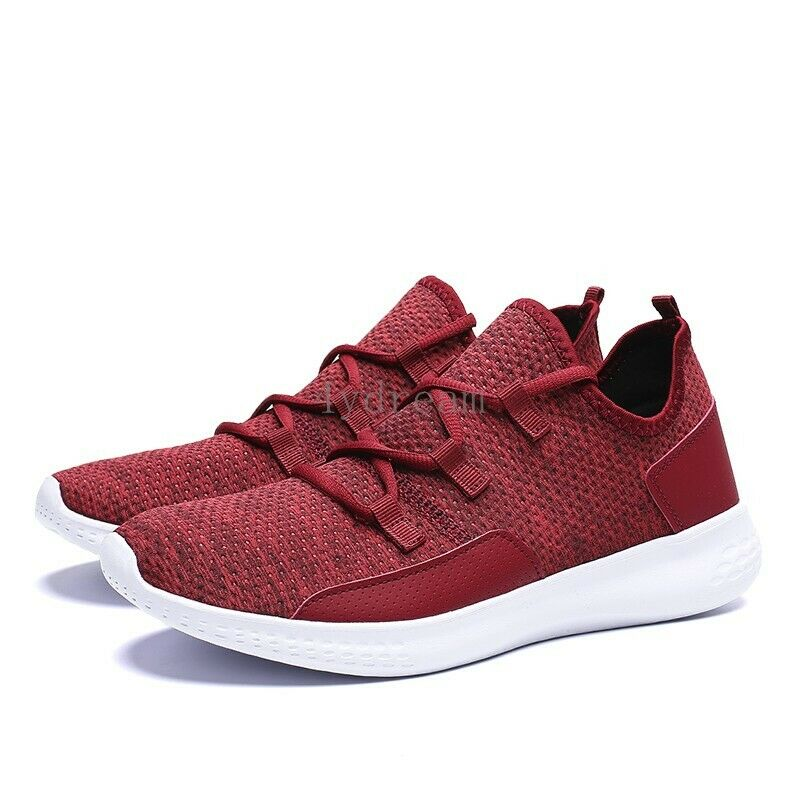 Men's Knit Breathable Sneakers Athletic Walking Running Workout Outdoor Travel