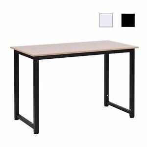 Mesa de Ordenador Escritorio para Hogar Oficina Pies Ajustables 120x60x76cm