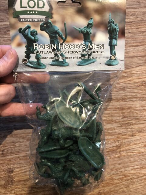 LOD Enterprises Robin Hood And His Merry Men Plastic Toy Soldiers Figure Set 6