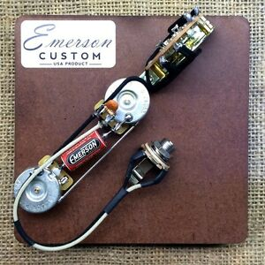 emerson custom 3 way telecaster prewired kit wiring harness pots Electric Guitar Pickup Wiring Diagrams emerson custom 3 way telecaster precableado kit ollas
