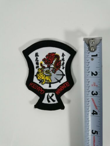 "MID SIZE ED PARKER KENPO KARATE CREST PATCH 4/"" X 3/"" NEW"