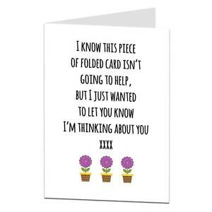 sympathy empathy card thinking of you thoughts are with you friend