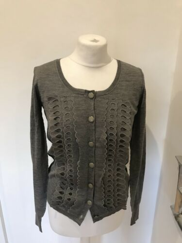 S Wool Size Cardigan Once Worn 100 Grey Gorgeous Chloe YqtPOBt