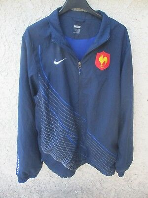 Veste QUINZE de FRANCE rugby FFR NIKE jacket bleu marine L   eBay