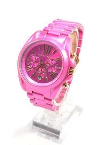 Michael-Kors-MK6719-Bradshaw-Pink-Dial-Stainless-Steel-Chronograph-Ladies-Watch