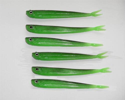 6X QUANTUM 12.5cm PERCH SLENDER MINNOW SOFT LURES DROPSHOT,JIG FISHING