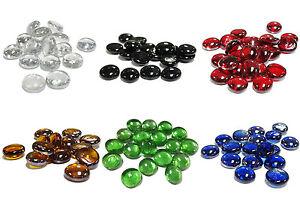 12 LBS Glass Pebbles Gem Stones Vase Filler Scatter Confetti, 12 bags (1-lb/bag)