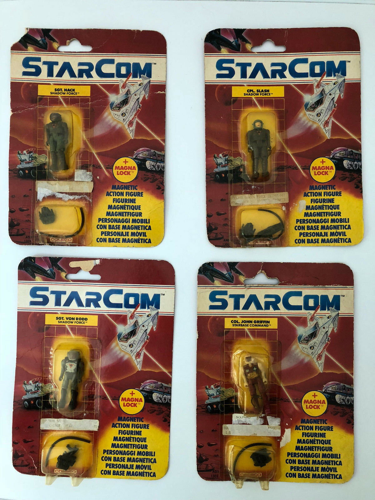 XMAS STARCOM MATTEL COLECO NEW 4 FIGURES FACTORY SEALED VERY RARE CARDED