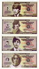 ONE MILLION DOLLARS THE  BEATLES (SET DE 4 BILLETS)