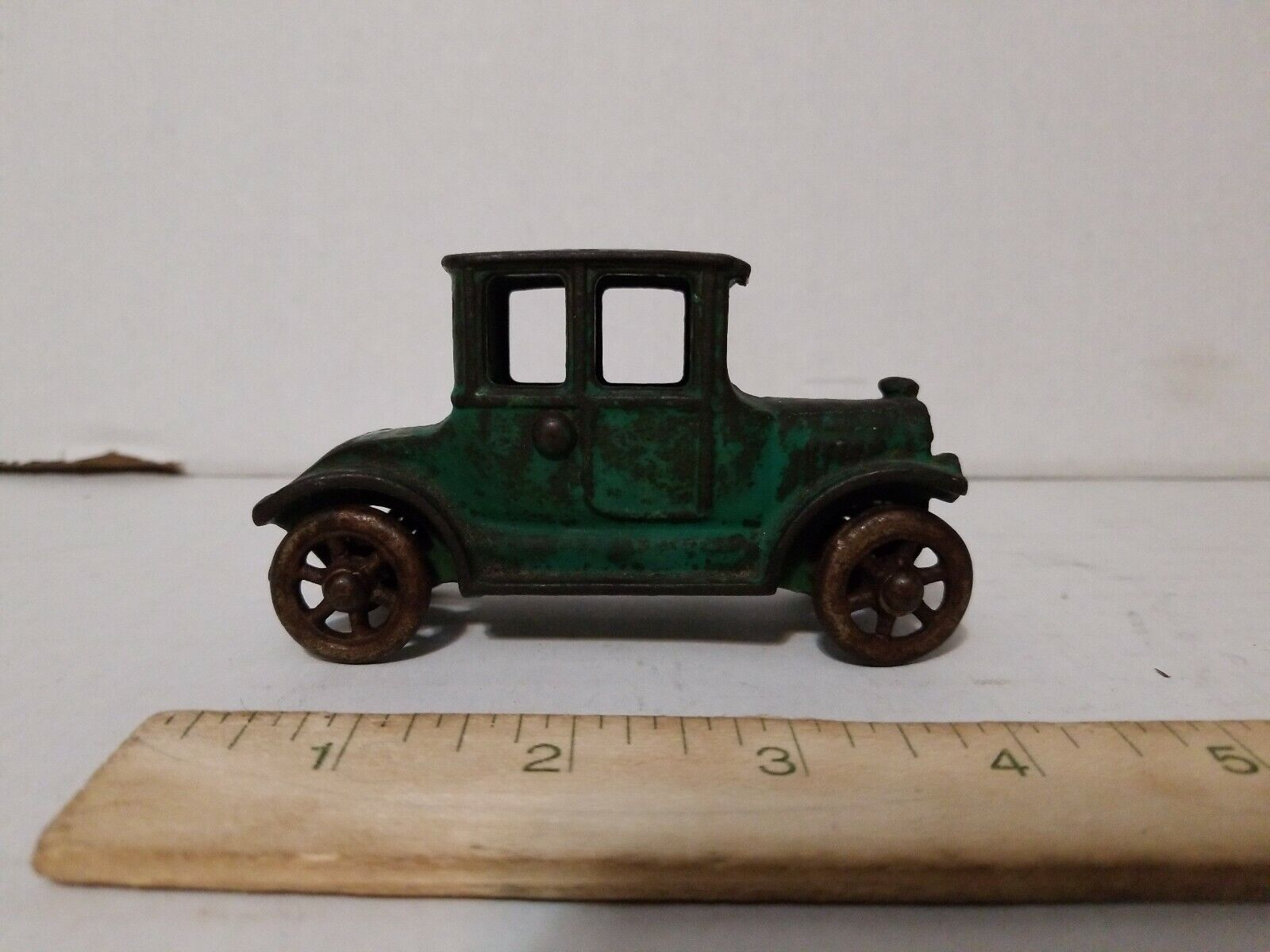 "Antique Cast Iron Ford modello T Coupe auto 4"" Arcade A.C. Williams Kilgore Hubley"
