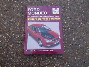 ford mondeo mk3 models 2003 2007 haynes owners workshop manual ebay rh ebay co uk manual ford mondeo 2003 pdf ford mondeo 2003 workshop manual pdf