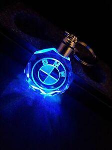 BMW-XMAS-Car-Logo-Keyring-With-Novelty-Gift-Box-Crystal-Night-Light-LED-KeyChain