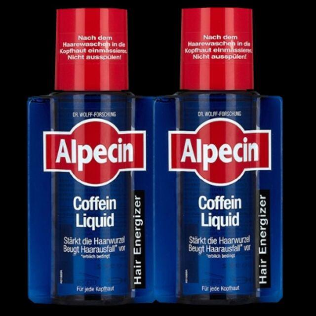 ALPECIN CAFFEINE LIQUID hair tonic 2x 200ml original high quality German product
