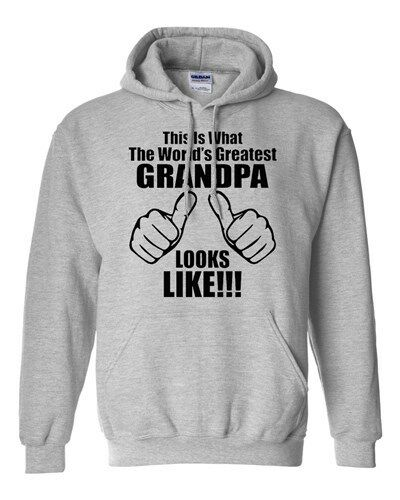 This Is What The World/'s Greatest Grandpa Looks Like Novelty Sweatshirt Hoodies