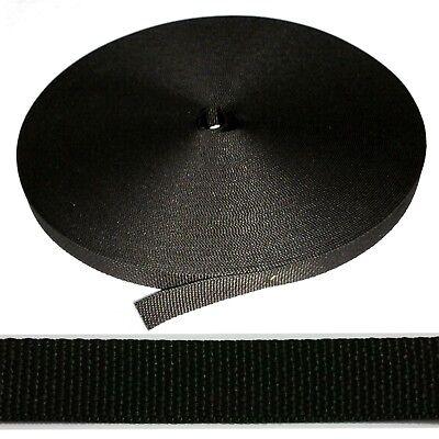 Professionale Cinghia per Tapparelle Nero Nastro Cintura Rullo 20mm Rollo Cavo