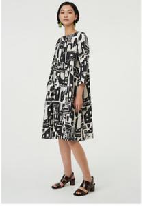 ✨✨✨Gorman Night Light Cotton Smock  Curved Waistline Dress Size 10/12 ✨✨✨