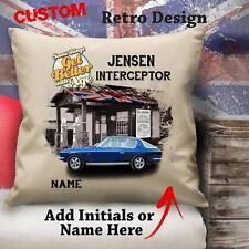 Personalizzato Jensen Interceptor Vintage Auto Classico Cuscino Tela Copertura