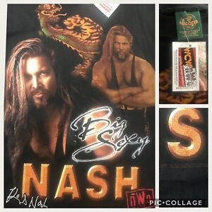 True-Vtg-1998-NWO-WCW-Big-Sexy-Kevin-Nash-w-Dragon-Black-L-42-034-T-Shirt-w-Tags