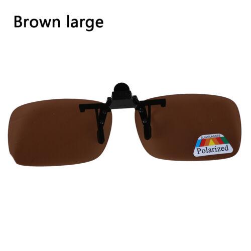 Clip-on Polarized Day Night Vision Flip-up Lens Driving Glasses Sunglasses DP VB