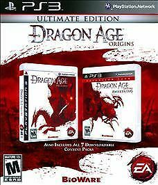 Dragon age: origins ultimate edition (2010) playstation 3 box.