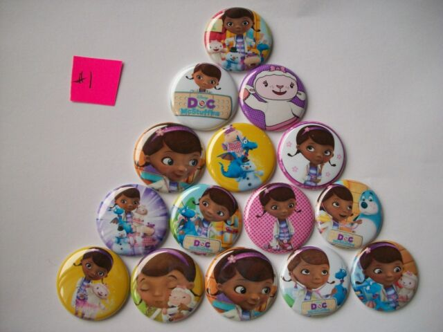 """15 ct 1"""" Girl Doctor Inspired Buttons Pinbacks Flatbacks crafts hairbows"""