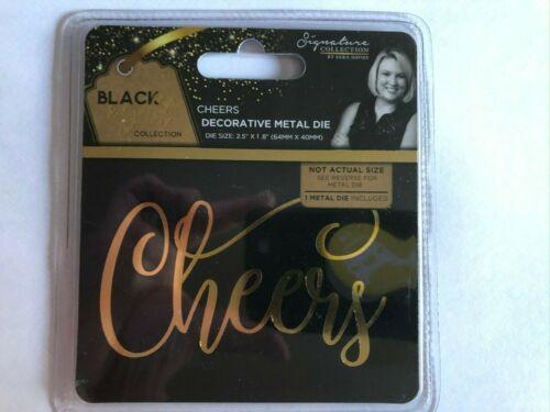 Cheers Crafters Companion Die Metal Decorativos Negro y Dorado Signature Collection