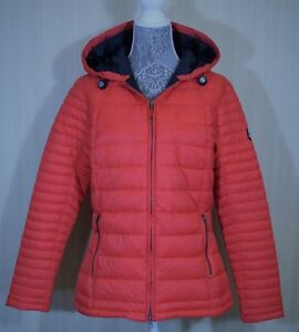 4f69d58d67254 Details about New Women's Barbour Landry Baffle Quilted Jacket Flare/Navy  LQU0664RE55 $240
