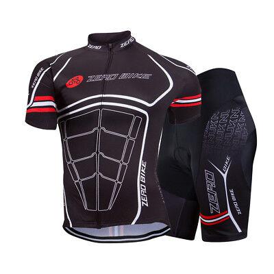 Zerobike Spider Herren Atmungsaktiv Fahrradtrikot & Radlerhose Kurzarm Shorts Einfach Zu Verwenden