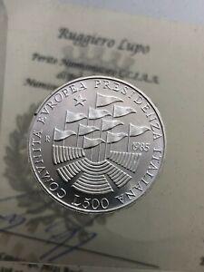 500-Livre-Cee-1985-FDC-der-Republik-Italienisch-Gedenkmuenzen