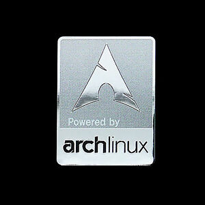 Image is loading Powered-by-Arch-Linux-Metal-Decal-Sticker-Case-