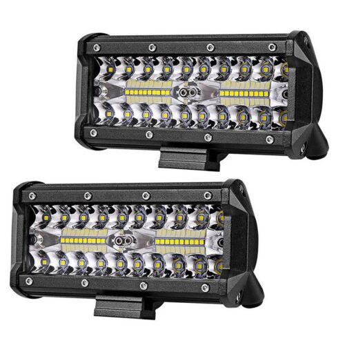 7 inch 400W LED Work Lights Bar Flood Spot Beam Offroad 4WD SUV Driving Fog Lamp