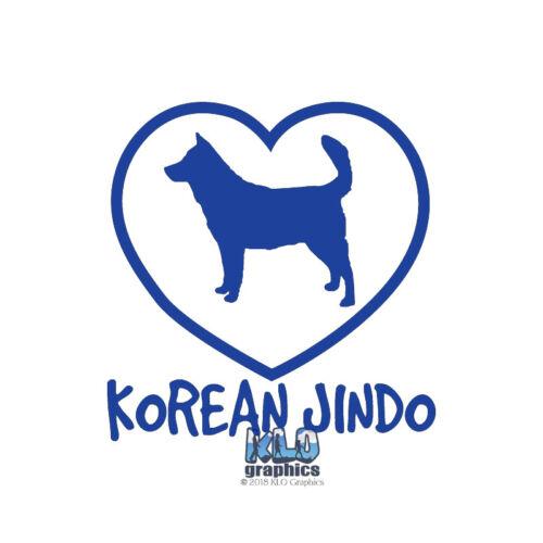 Decal AKC Registered Pet Dog KOREAN JINDO I Love My Vinyl Sticker