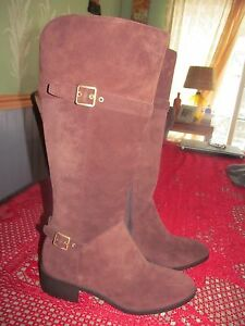 Cole-Haan-Indiana-Chestnut-Brown-Tall-Suede-Boots-SZ-11-M-MSRP-298-00
