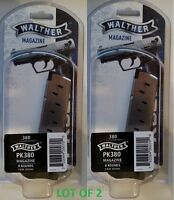 Lot Of 2 - Walther Pk380 380acp 8 Round Magazine 505600 8rd Mag Factory